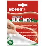 "Kores klebepads ""GLUE DOTS"", transparent, permanent"