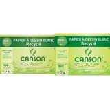 CANSON zeichenpapier Recycling, farbig, 240 x 320mm