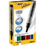 BIC whiteboard-marker Velleda liquid Ink Pocket, 4er Etui