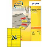 AVERY etiquette d'adresse, 70 x 35 mm, rouge fluo