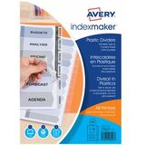 AVERY intercalaires IndexMaker, PP, 6 touches, A4