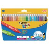 BIC kids Fasermaler kid Couleur medium, 24er Kartonetui
