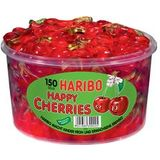HARIBO fruchtgummi HAPPY CHERRIES, 150er Runddose