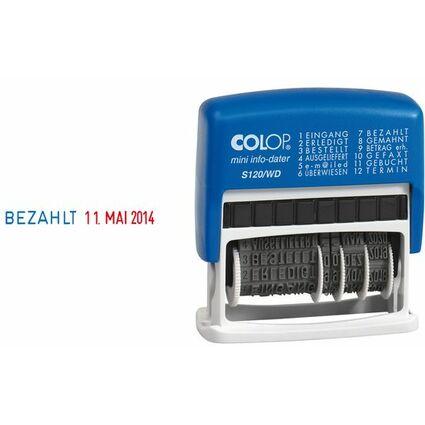 COLOP Wortbandstempel Mini Dater S120/WD, mit Datum