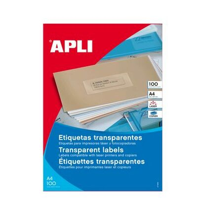 agipa Wetterfeste Etiketten, 48,5 x 25,4 mm, transparent