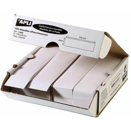 agipa Frankier-Etiketten, 170 x 45 mm, weiß