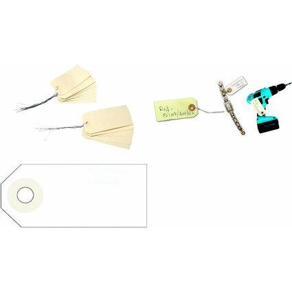 agipa Gepäckanhänger, 125 x 63 mm, neutral, mit Draht