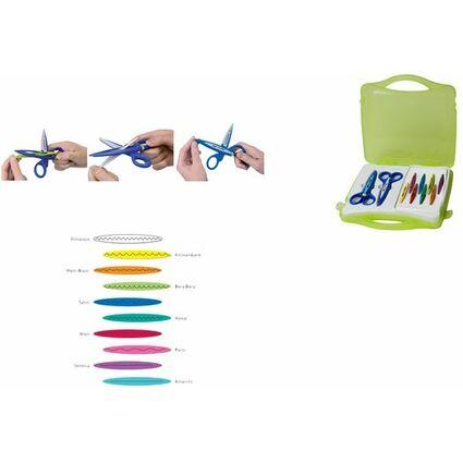Maped Konturenscheren-Koffer, 10 verschiedene Schnittarten