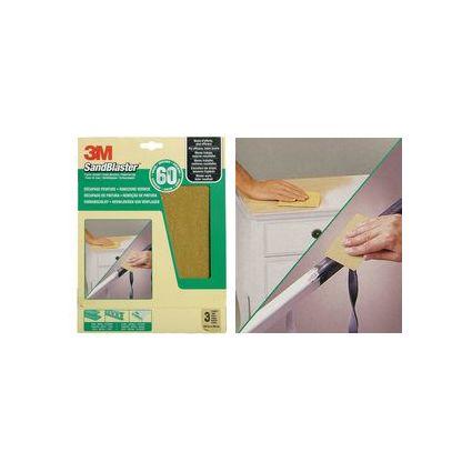 3M SandBlaster Hochleistungsschleifpapier, grob/P60