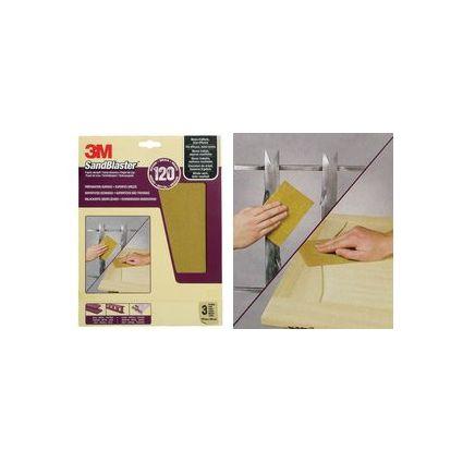 3M SandBlaster Hochleistungsschleifpapier, mittel/P120