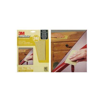 3M SandBlaster Hochleistungsschleifpapier, fein/P320