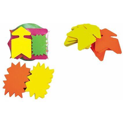 "agipa Signal-Etiketten ""Stern"", gelb/orange, 160 x 240 mm"