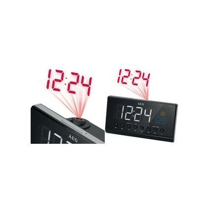 AEG UKW/PLL Uhrenradio MRC 4141, LED-Anzeige, schwarz