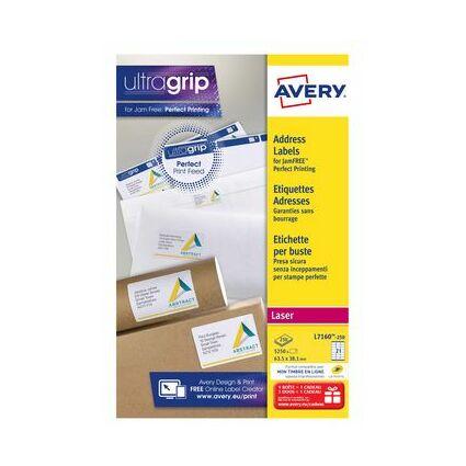 AVERY etiquettes adresses, 99,1 x 33,9 mm, blanc