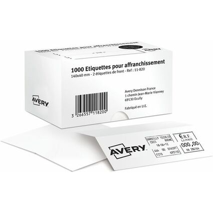AVERY Etiquette d'affranchissement, 140 x 40 mm, blanc