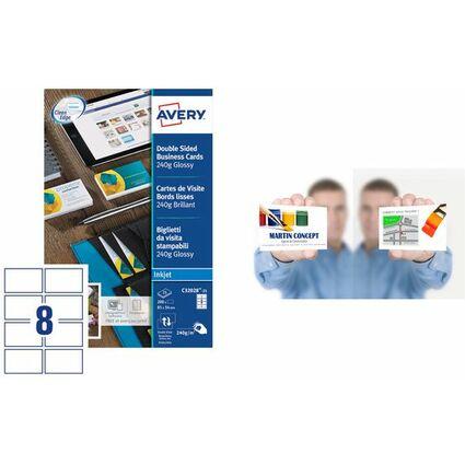 AVERY Cartes de visite Quick&Clean, 260 g/m2, blanc mat