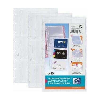 Elba Visitenkartenbuch Proline Vario Zipp Pp Blau