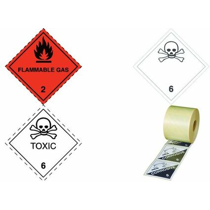 "SMARTBOXPRO Gefahrgutaufkleber ""Klasse 2"", Flamme + Text"