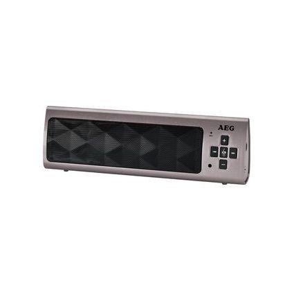AEG Mobiler Bluetooth Lautsprecher BSS 4818, titan