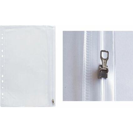 Oxford Reißverschlusstasche, 305 x 170 mm, PVC, glasklar