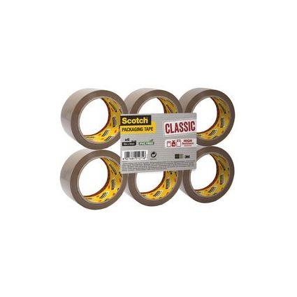 3M Scotch Verpackungsklebeband CLASSIC, 50 mm x 66 m, braun