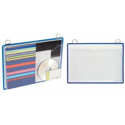 tarifold Broschürenmappe, DIN A4, Querformat, blau