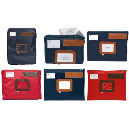 """ALBA Banktasche """"POCSOU B"""" mit Dehnfalte, aus Nylon, blau"""