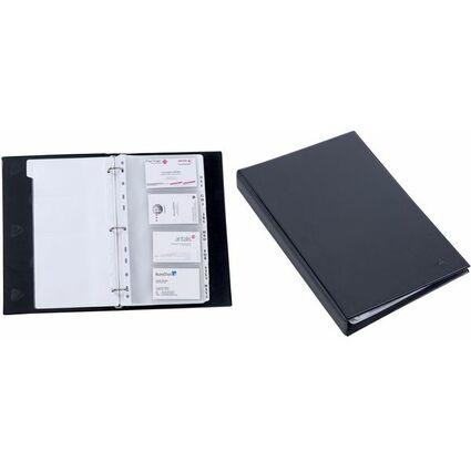 ALBA Visitenkarten-Ringbuch, PVC, schwarz