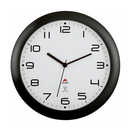 "ALBA Funkwanduhr ""HORNEWRC N"", schwarz, Durchmesser: 300 mm"