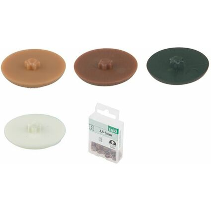 Kunststoff weiß suki Abdeckkappe T 10 3-3,5 mm