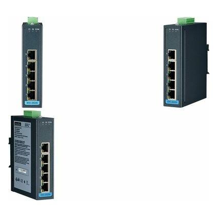 ADVANTECH Unmanaged Industrial Ethernet Switch, 5 Port
