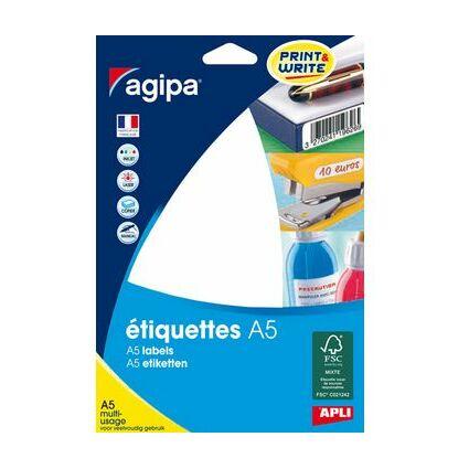 agipa Universal-Etiketten, 210 x 148 mm, weiß