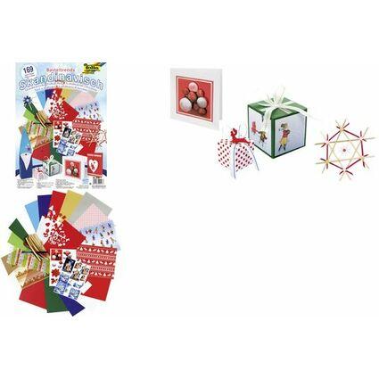 Bastelpapier Weihnachten.Folia Bastelpapier Set Weihnachten Skandinavisch