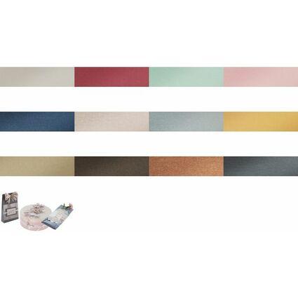 folia Perlmuttkarton, DIN A4, 250 g/qm, 50 Blatt, perlweiß