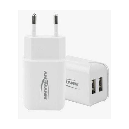 "ANSMANN USB-Ladegerät ""Home Charger 224"", 2x USB-Kupplung"