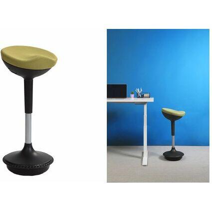 ALBA Sitzhocker/Stehhilfe STOOLY, schwarz / grün