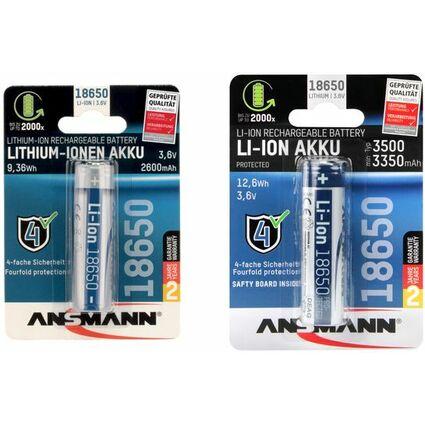 ANSMANN Li-Ion Akku 18650, 3.6 V, 2600 mAh
