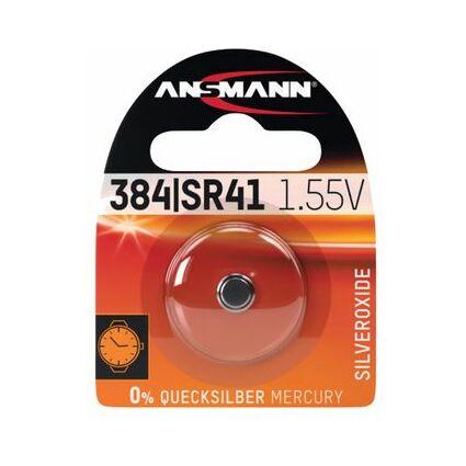 ANSMANN Silber-Oxid Uhrenzelle, SR736 (SR41), 1,55 Volt