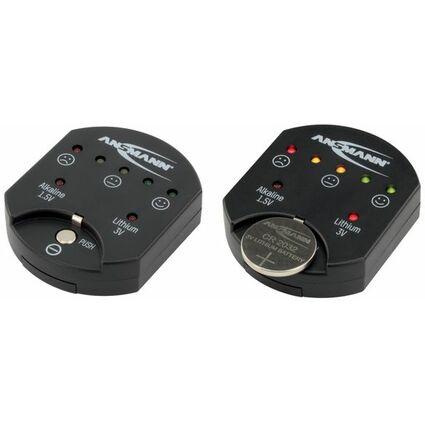 ANSMANN Batterie-/Akku-Tester, für Knopfzellen, schwarz