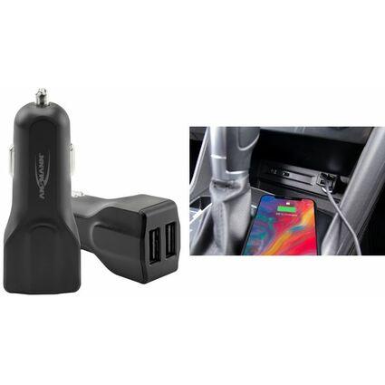 """ANSMANN USB-KFZ-Ladegerät """"In-Car Charger 248"""", 2 x USB"""