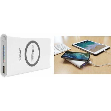 ANSMANN Mobiler Zussatzakku Powerbank 8.8 Wireless, weiß