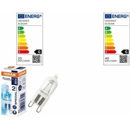 EEK D OSRAM Backofen-Glühlampe HALOPIN OVEN 25 Watt G9