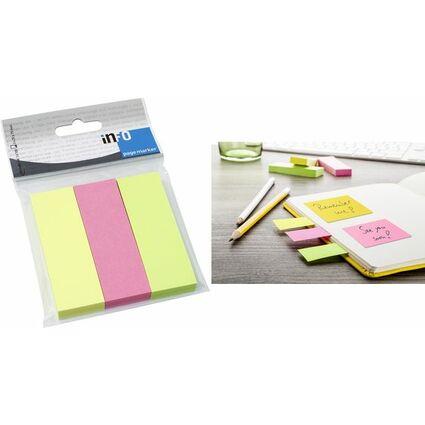 inFO notes Papier-Pagemarker, 15 x 50 mm, Brillantfarben