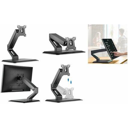 LogiLink Touchscreen-Monitorarm mit Standfuß, schwarz