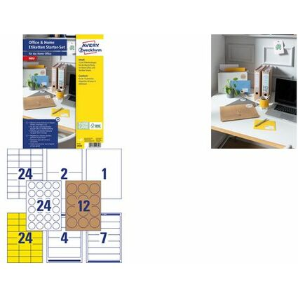 "AVERY Zweckform Etiketten Starter-Set ""Office & Home"""