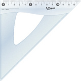 Maped zeichendreieck Cristal 45 Grad, Hypotenuse: 210 mm