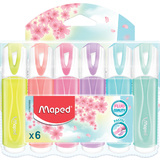 Maped textmarker FLUO'PEPS classic PASTEL, 6er Etui