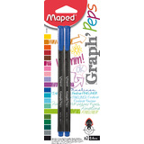 Maped fineliner Graph'Peps, blau, 2er Blisterkarte