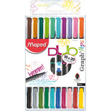 Maped fineliner Graph'Peps DUO, 10er etui = 20 Farben