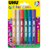 UHU glitzerkleber Glitter glue Original, Inhalt: 6 x 10 ml